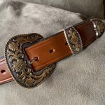 BE9M Belt with Floral Buckle Set